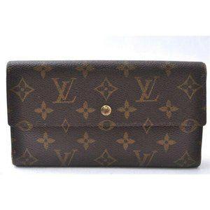 Louis Vuittons Wallet Zipper Monogram Long Flap Co